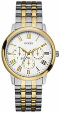 GUESS CHRONOGRAPH TWO TONE STAINLESS STEEL GREEK NUMBERS MEN WATCH-U11610G1-NEW