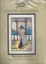 """""""WINTER GEISHA""""- Lovely Counted Cross Stitch Kit by CANDAMAR DESIGNS"""