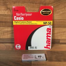1 x Hama Digital Camera Power Battery For Casio NP-50 Li-ion 3.7 V/950