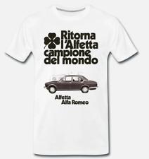 T-SHIRT MAGLIA TRIBUTO ALFETTA ALFA ROMEO AUTO MITO AUTO VINTAGE - 100 S-M-L-XL