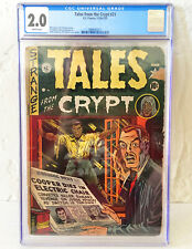 Tales From The Crypt #21 CGC 2.0 EC Pre Code Horror Wally Wood Art 1950