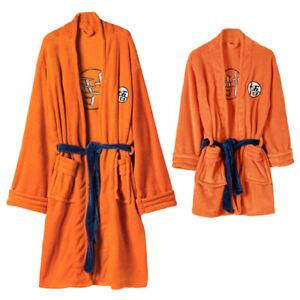 Dragon Ball Son Goku Cosplay Nightgown Sleepwear Bath Robe Costume Flannel Robe