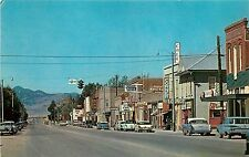 c1960 Chrome Postcard; Street Scene, Whitehall MT Jefferson County Unposted