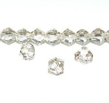 SCB3126f LIGHT SILK Genuine Swarovski Crystal 4mm Xilion Bicone Beads 48/pkg