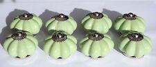 Cerámica Porcelana Muebles POMOS Verde Claro Flor Con Tornillos Cromados x 8
