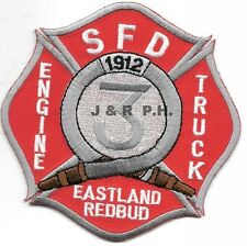 """Springfield  Station - 3  """"Eastland Redbud"""", MO  (4"""" x 4"""" size) fire patch"""