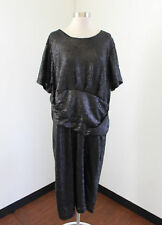 Eloquii Black Sequin Beaded Short Sleeve Cocktail Party Dress Size 24 Evening