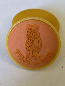 FLINTSTONES 1989 Ink Stamp | Yellow Fruity Pebbles Post Cereal Premium