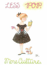 Mary Engelbreit-Less Pop More Culture-Blank Greeting Card w/Envelope-New!