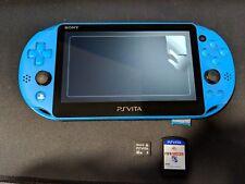 Sony PlayStation Vita Aqua Blue Console PCH-2001 + 32GB memory card + FIFA