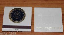 Vintage President Ronald Reagan Matchbook w/ US Presidential Seal UNUSED