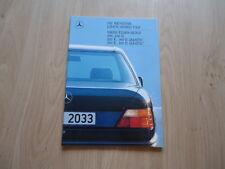 MERCEDES-BENZ 200, 230E, 260E, 300E AND 4MATIC W124 BROCHURE / PROSPEKT 1988