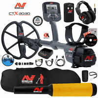 Minelab CTX 3030 Ultimate Waterproof Metal Detector with Pro Find 35, Carry Bag
