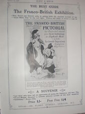 Black & White's Guide to the Franco-British Exhibition 1908 old advert