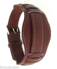 18MM BROWN VINTAGE MILITARY OLD RUSSIAN USSR Soviet Leather Watch Band Strap