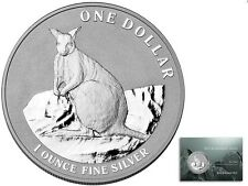 2012 Australian Kangaroo - Mareeba Rock Wallaby 1oz Silver $1 Coin