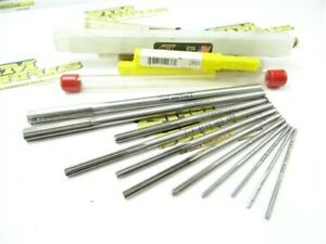 """NEW & USED LOT OF 11 HSS CHUCKING REAMERS .0930 TO .3906"""" DIA L&I APT"""