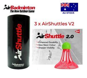 1 x TUBE AIRSHUTTLE V2 (3PCS) OUTDOOR AIR BADMINTON - BWF APPROVED AIR SHUTTLE