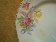 J&G MEAKIN c1912 ***ROSE AND RIBBON***  'SOL SUNSHINE'   DINNER PLATE EX COND