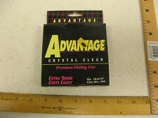 "Advantage Crystal Clear Premium Fishing Line 10 lb 250 yds .012"" NEW"