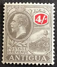 Antigua George V 4/- SG80 Black & Red mounted mint C/V £50 In 2016.