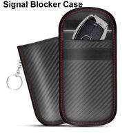 Car Key Signal Blocker Case Pouch Bag Black/Faraday Cage Keyless RFID Blocking~