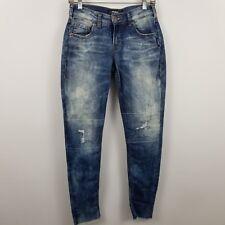 Silver Girlfriend Classics Stretch Women's Acid Wash Blue Jeans Size 25 x 27