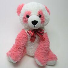 "Dan Dee PANDA BEAR 15"" Stuffed Pink & White Sitting Plush Animal"