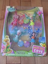 Disney Fairies Palm Tree Cove Tropical Party 4 Pack Tink Rosetta Silvermist NEW