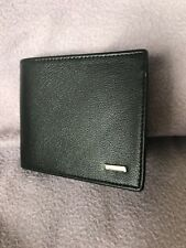 Black High Quality Luxury Mens Soft Wallet With Zipped Coin Pocket