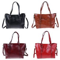 Women Real Genuine Leather Tote Handbag Crossbody Shoulder Messenger Bag