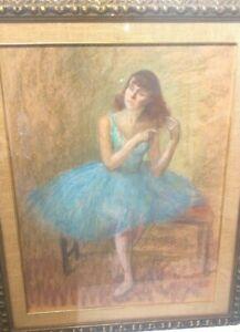 Louis Kronberg (1872-1965) Ballerina Combing her Hair