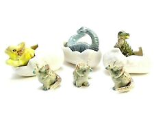 Dollhouse Miniatures Ceramic Dinosaur Family Animals Figurines Collectibles