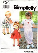 Simplicity 7743 Toddlers' Child's Overalls or Jumper & Knit Top Pattern ½-2 FF
