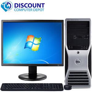 """Dell Precision T3400 Windows 10 Pro Workstation PC C2D 3.0GHz 8GB 500GB 19"""" LCD"""