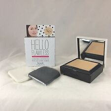 New Benefit Hello Flawless *Petal Custom Powder Cover-Up Face w/Sponge&Brush $34