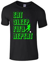 EAT SLEEP FIFA REPEAT GAMING T Shirt. Boys Kids Children Adult Gift Tee Top