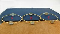 Chalcedony Gemstone Gold Plated Bangle Gift Bracelet 925 Sterling Silver Jewelry