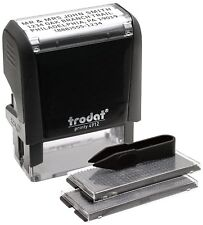 Self-Inking Ink Pad Custom Lettering Message Business Name Address Stamp Machine