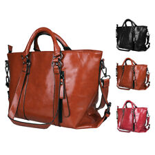 Women Lady Handbag Shoulder Bags Tote Purse Oil Faux Leather Hobo Bag Satchel