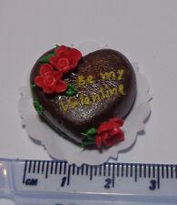 SCALA 1:12 Torta al Cioccolato Cuore con Fiori, SAN VALENTINO CAKE 3