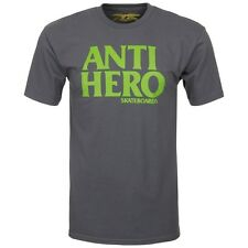 Anti Hero Blackhero Skateboard T Shirt Charcoal/Green Large