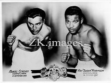 BOXE CERDAN SUGAR R. ROBINSON Photomontage Boxing Photo 1950s