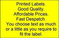 Personalised printed sticky- self adhesive YELLOW labels x 100 - you choose text