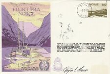 RAF Escaping Society Commemorative Cover Norge Signed copy 1975