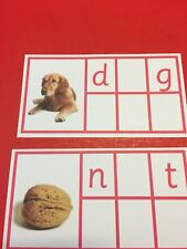 Pink Series Montessori - Medial Sounds - Cvc Word Cards - 45 Laminated Cards