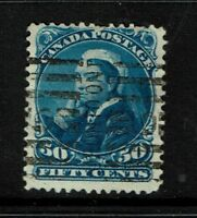 Canada SC# 47, Used, Hinge Remnant - S2604