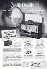 Authentic 1952 ZENITH Super Trans-Oceanic Radio  Full Page Retro Magazine Advert