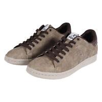 Scarpe Uomo Australian Sneakers Basse Beige Nabuk Casual Lacci Stringhe SARANI
