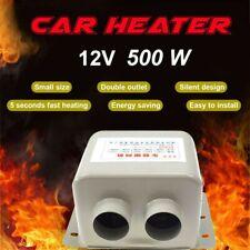 2 Fan Electric Car Heater Truck Auto Heating Cooling Fan Defroster Demister 500W